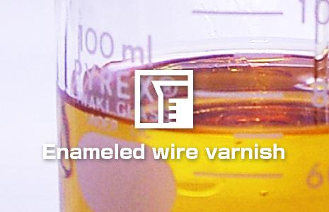 Enameled  wire varnish
